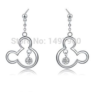 Jewelry - Brand New Mickey Mouse Crystal Drop Earrings